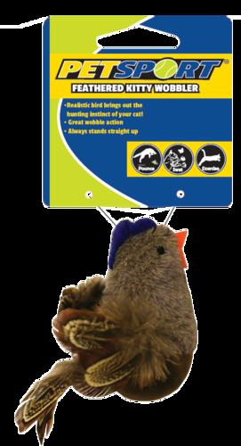 Feathered Kitty Wobbler bruin