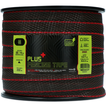 ZoneGuard 40 mm Plus fencing tape brown 200 m