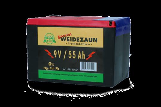 Battery Dry 9V/55Ah (H11.5 x L16.5 x W11.2 cm)