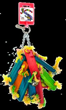Birrdeeez Parakeet Toy Wood bunch of 21cm