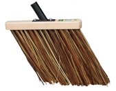 Rice straw broom brown