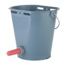 Calf bucket plastic + Teat 2-sided Flat