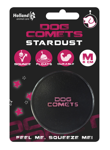 Dog Comets Ball Stardust Black/Pink M