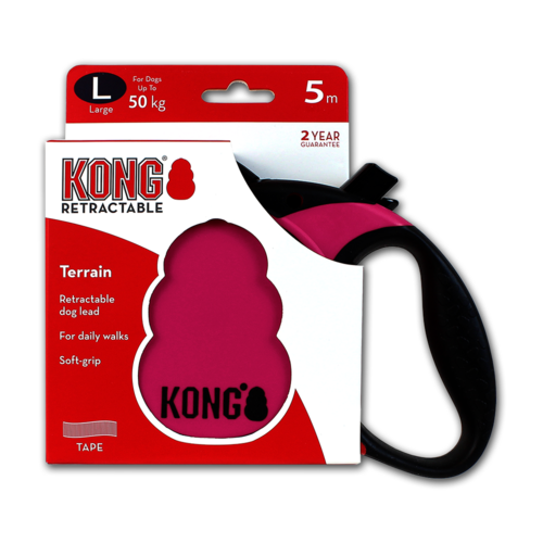 Kong Retractable Leash Terrain Pink L (5m/50kg)