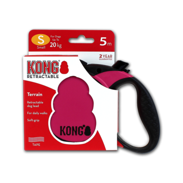 Kong Retractable Leash Terrain Pink S (5m/20kg)