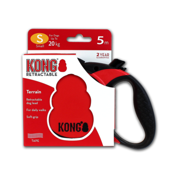 Kong Retractable Leash Terrain Red S (5m/20kg)