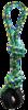 Pet Qwerks Jingle X-Tire Ball Tug & Toss Small