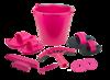 Grooming Set 10 pieces in pink bucket