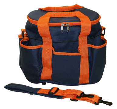 Grooming Bag 27x22x22cm d.blue/orange