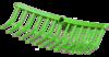 Feed Fork plastic green