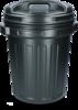 Storage Bucket with lid Black 40 litres